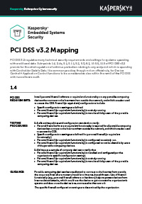 PCI DSS v3.2 Mapping: Indlejrede systemer