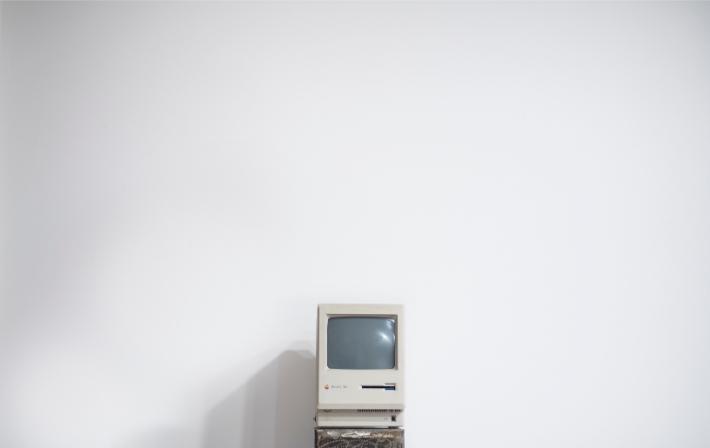 Gammel computer, som de forældede computersystemer der blev udsat for WannaCry-ransomware-angrebet