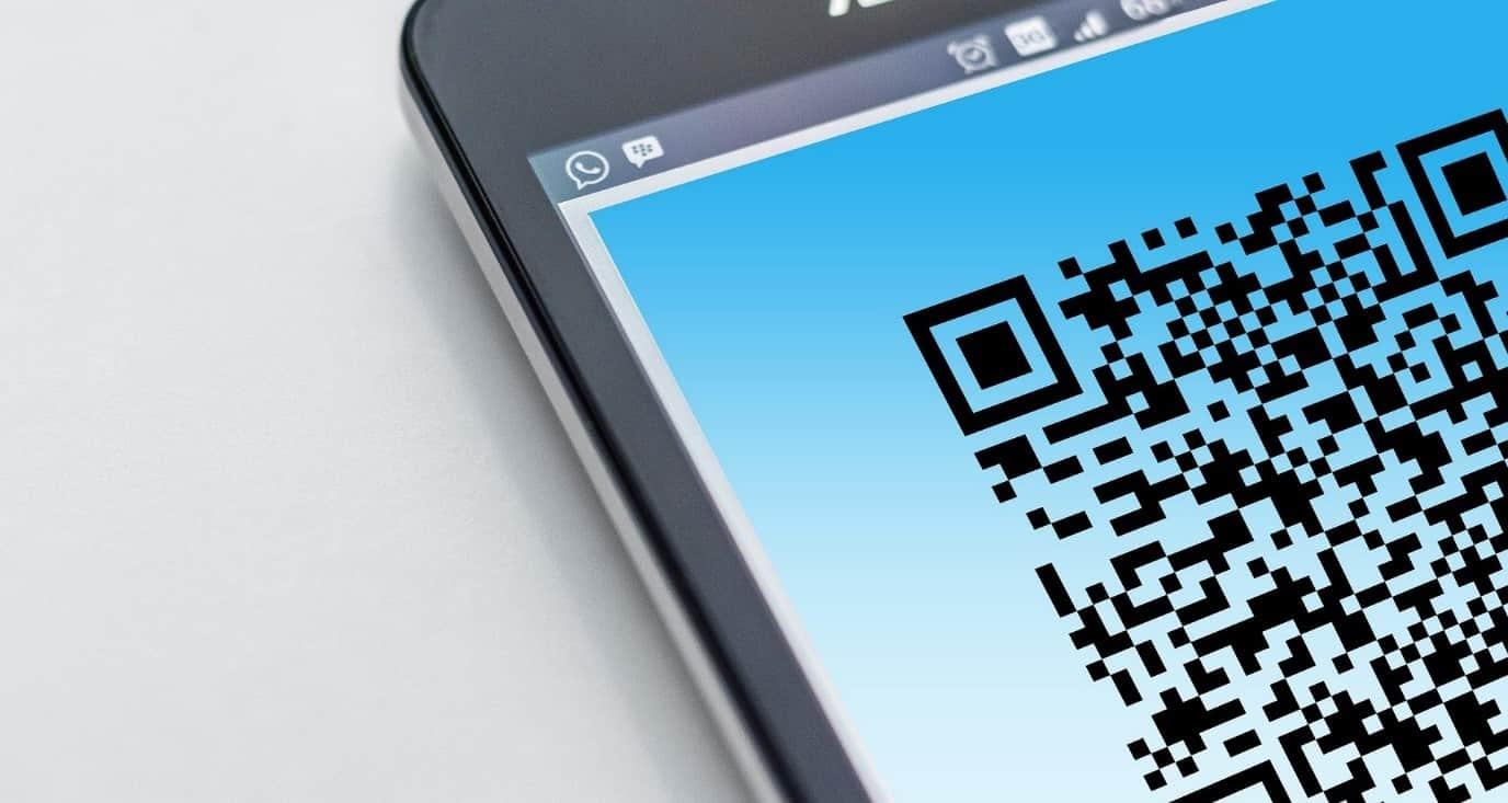 QR-kode på mobil