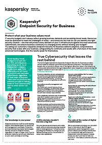 KASPERSKY ENDPOINT SECURITY FOR BUSINESS - DATABLAD