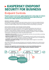 Kaspersky Endpoint Security for Business Control Tools - Datablad