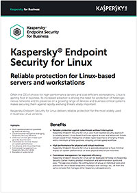 KASPERSKY SECURITY FOR LINUX – DATABLAD